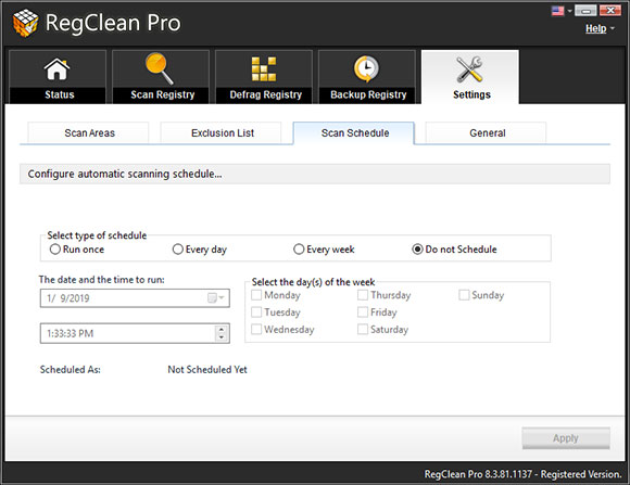 RegClean Pro Screen Shot