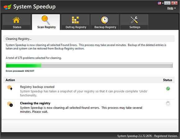 System Speedup Screen Shot